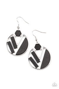 Paparazzi Petrified Posh - Black Earrings