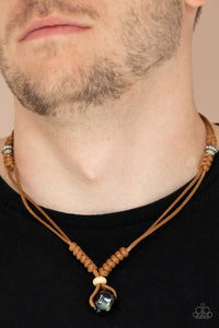 Paparazzi Might and MAINLAND - Brown Urban Necklace