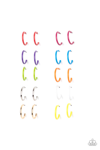 Paparazzi $10 Set of Starlet Shimmer Hoop Earrings Multi
