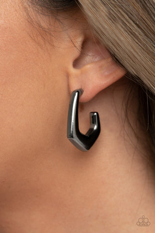 COMING SOON - Paparazzi On The Hook - Black Earrings