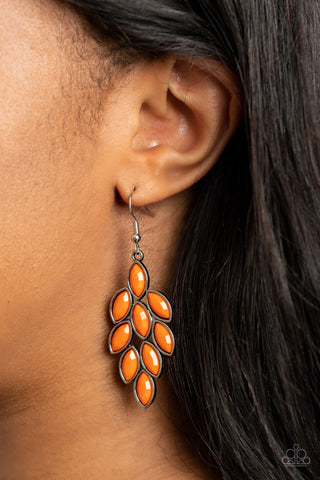 COMING SOON - Paparazzi Flamboyant Foliage - Orange Earrings