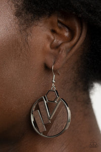Paparazzi Petrified Posh - Brown Earrings
