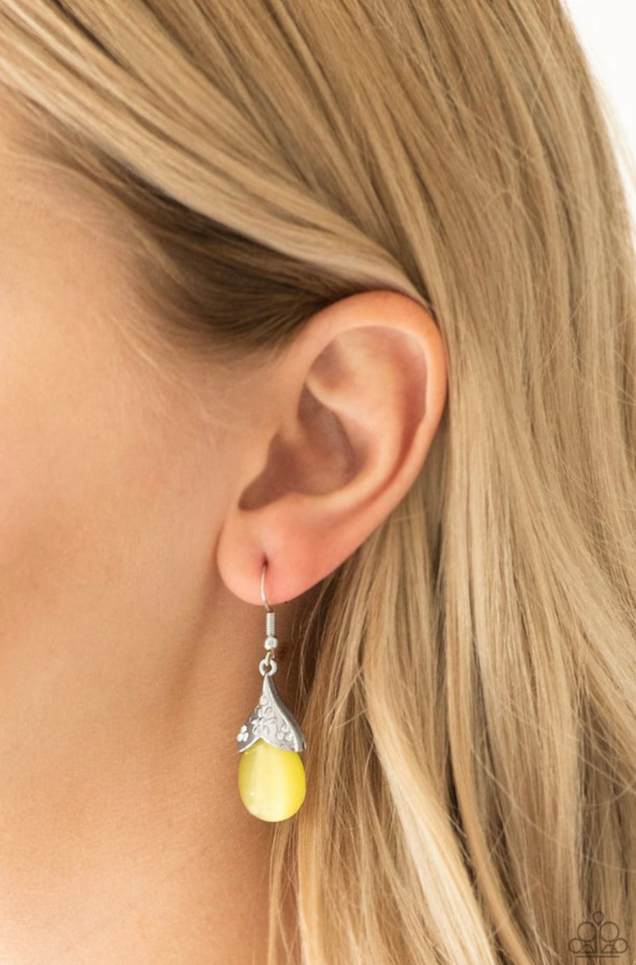 Paparazzi Spring Dew - Yellow Earrings
