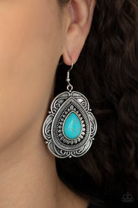 COMING SOON - Paparazzi Southwestern Soul - Turquoise Earrings