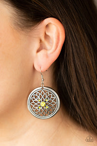 COMING SOON - Paparazzi Mega Medallions - Yellow Earrings