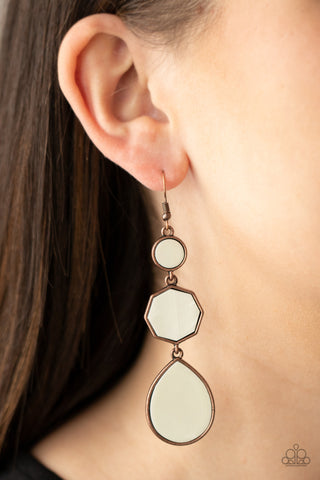 Paparazzi Progressively Posh - Copper Earrings