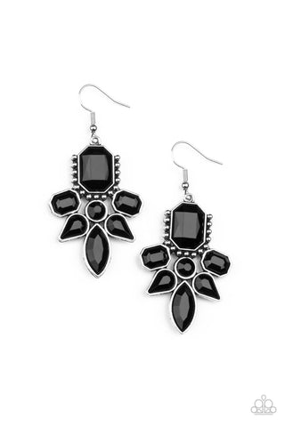 Paparazzi Vacay Vixen - Black Earrings