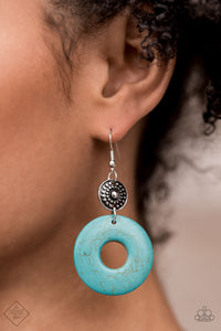 COMING SOON - Paparazzi Earthy Epicenter - Turquoise Earrings