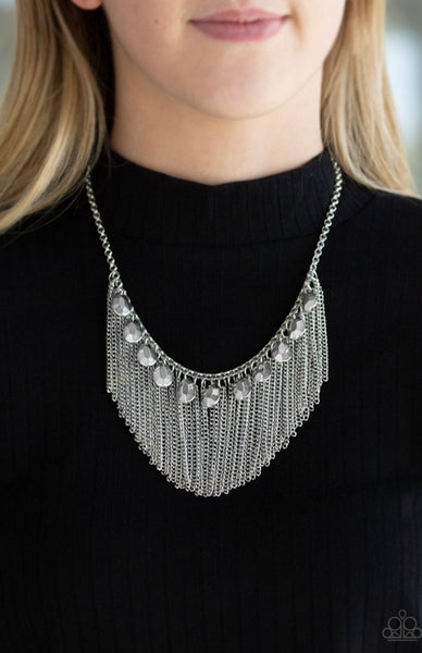 Paparazzi Bragging Rights - Silver Necklace