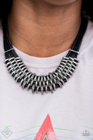 COMING SOON - Paparazzi Lock, Stock, and SPARKLE - Black Necklace