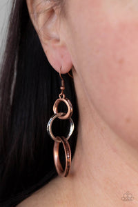 Paparazzi Harmoniously Handcrafted - Copper Earrings