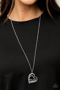 COMING SOON - Paparazzi A Mothers Heart - Blue Necklace