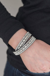 Paparazzi Shimmer and Sass - Black Bracelet