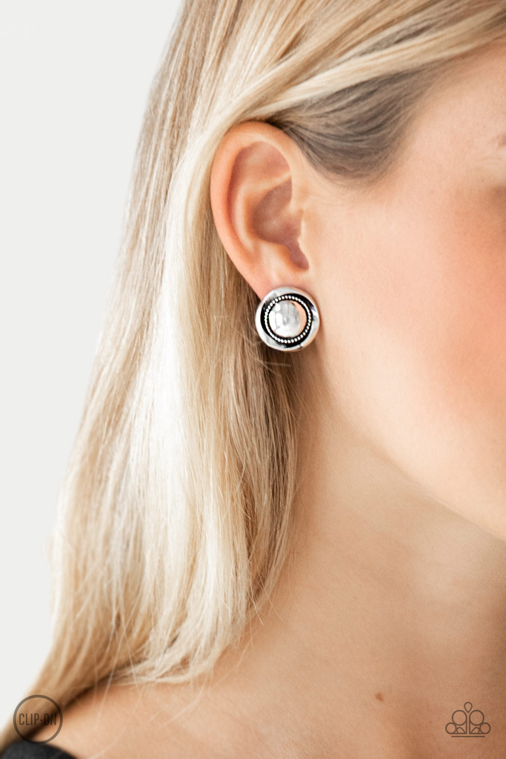 Paparazzi Out Of This Galaxy - Silver Clip-On Earrings