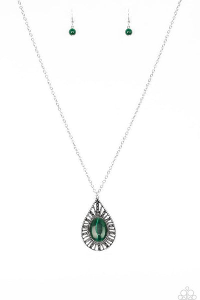 Paparazzi Total Tranquility - Green Necklace
