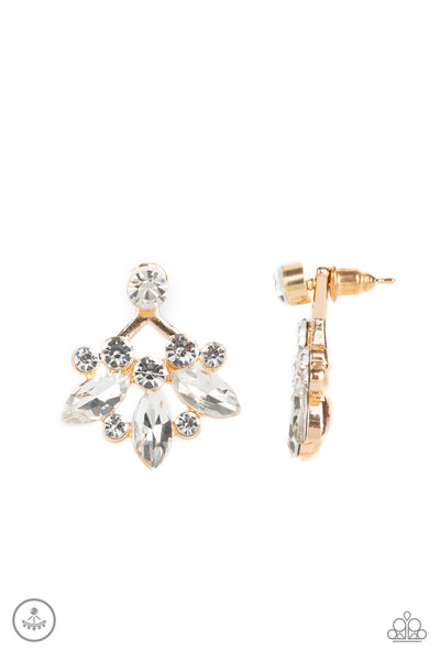 Paparazzi Crystal Constellations - Gold Earrings