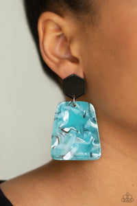 Paparazzi Majestic Mariner - Blue Earrings