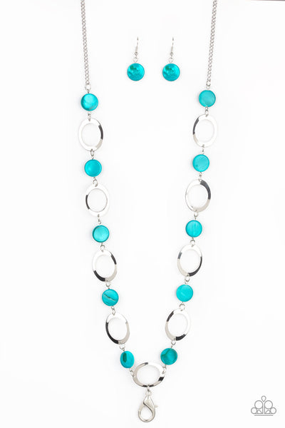 Paparazzi SHELL Your Soul - Blue Lanyard Necklace