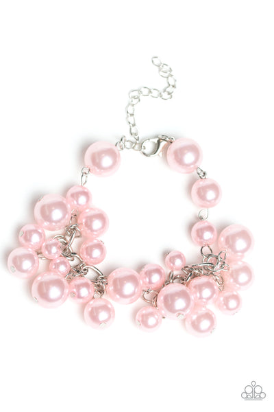 Paparazzi Pink $10 Set - Theres Always Room At the Top Necklace and Girls in Pearls Bracelet