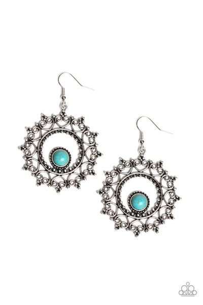 Paparazzi Wreathed in Whimsicality Turquoise Earrings