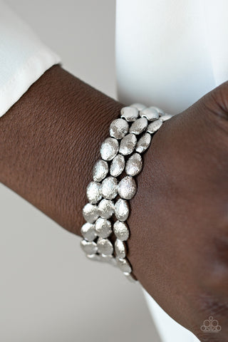 Paparazzi Basic Bliss - Silver Bracelet