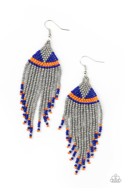 Paparazzi BEADazzle Me - Silver Earrings