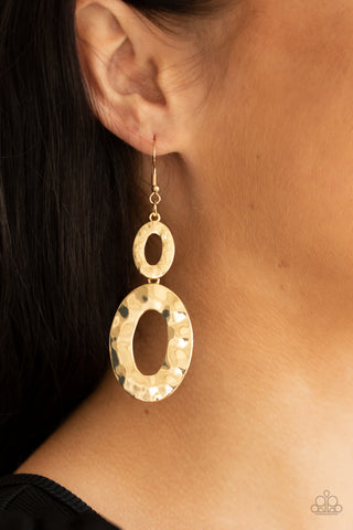 Paparazzi Bring On The Basics Gold Earrings
