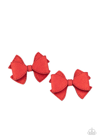 Paparazzi Dont BOW It - Red Hair Clips
