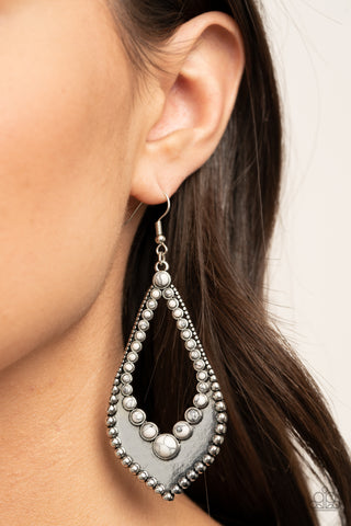 Paparazzi Essential Minerals - White Earrings
