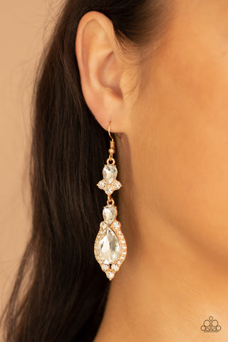 Paparazzi Fully Flauntable Gold Earrings