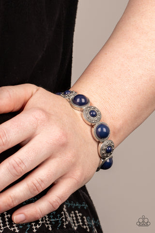 Paparazzi Garden Flair Blue Bracelet