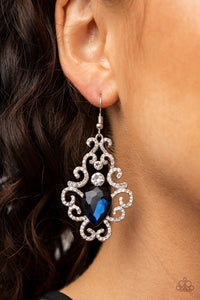 Paparazzi Happily Ever AFTERGLOW - Blue Earrings