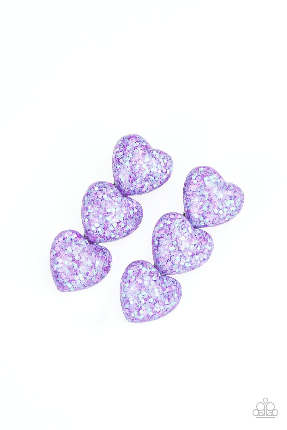 Paparazzi   Heart Full of Confetti - Purple Hair Clips