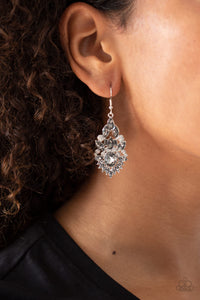 Paparazzi Ice Castle Couture - Silver Earrings