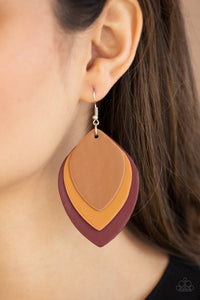 Paparazzi Light as a LEATHER Red Earrings