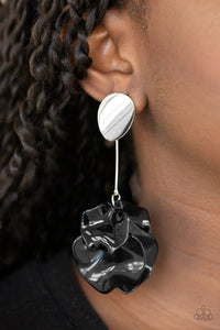 Paparazzi Petal Pathways Black Earrings