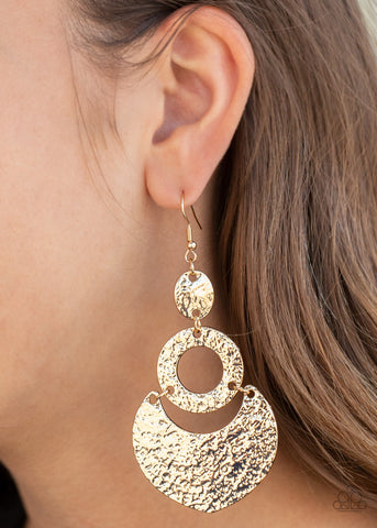 Paparazzi Shimmer Suite - Gold Earrings