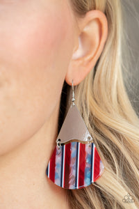 Paparazzi Social Animal - Red Earrings