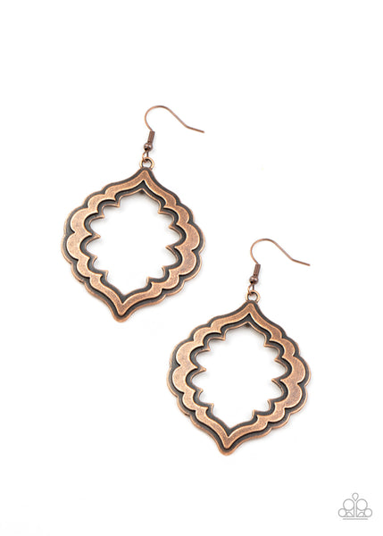 Paparazzi Taj Mahal Majesty - Copper Earrings