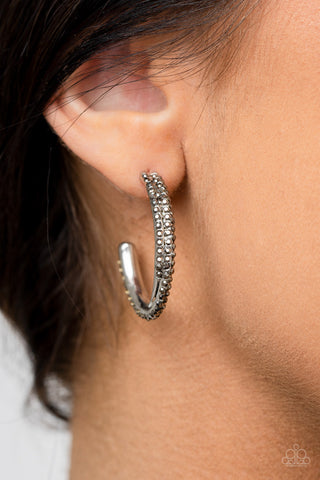 Paparazzi Trail of Twinkle Silver Earrings