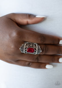 Paparazzi Undefinable Dazzle Red Ring