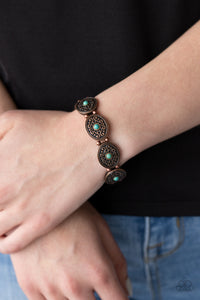 Paparazzi West Wishes - Copper and Turquoise Bracelet