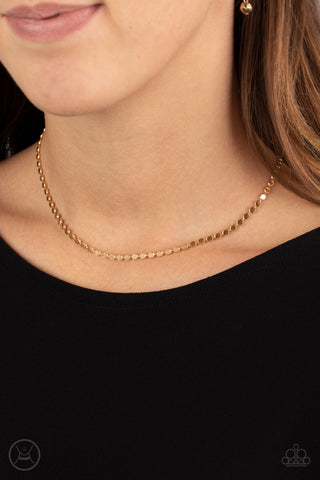 Paparazzi When in CHROME Gold Choker Necklace