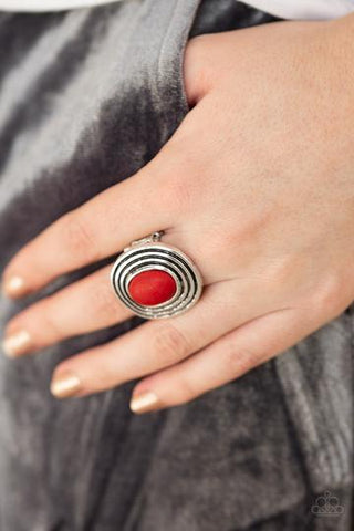 Paparazzi Spiraling Sands Red Ring