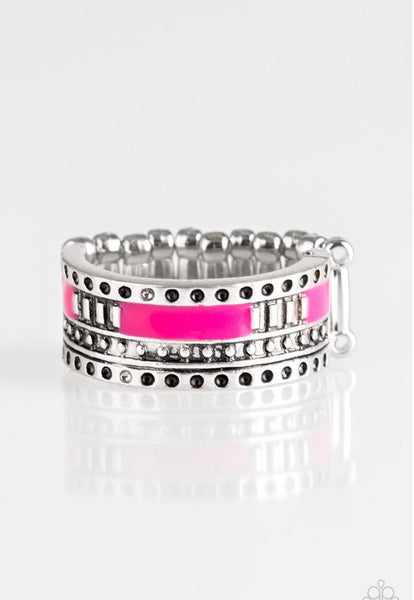 Paparazzi Super Summer - Pink Ring