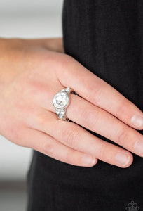 Paparazzi Poshly Pampered - White Ring