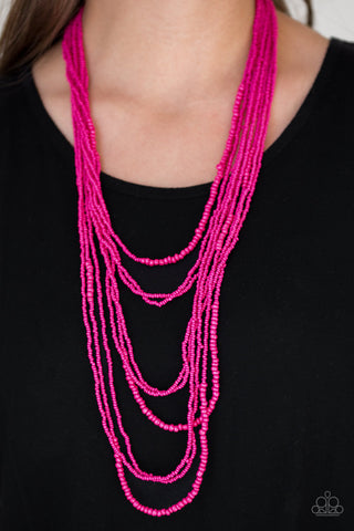 Paparazzi Totally Tonga - Pink Necklace