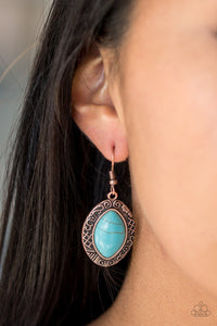 Paparazzi Aztec Horizons - Copper Earrings