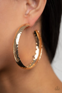 Paparazzi Check Out These Curves - Gold Hoop Earrings