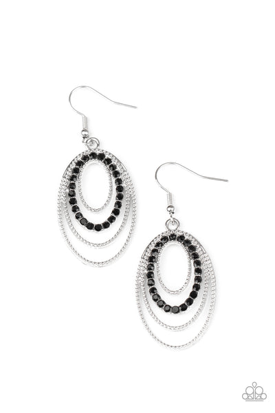 Paparazzi Date Night Diva - Black Earrings